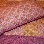 Для дома и интерьера ручной работы. Ярмарка Мастеров - ручная работа Лоскутное одеяло и подушка.. Handmade.