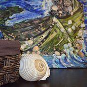 Картины и панно ручной работы. Ярмарка Мастеров - ручная работа Старая лодка в шторме. Handmade.