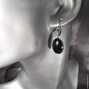 "Earrings handmade. Livemaster - original item ""Серьги с авантюрином"". Классика.. Handmade."