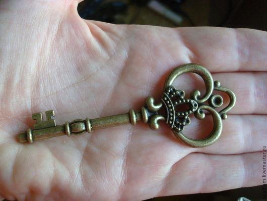 Для украшений ручной работы. Ярмарка Мастеров - ручная работа. Купить Подвеска Ключ Макси. Handmade. Серебряный, ключ, подвеска