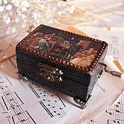 Для дома и интерьера ручной работы. Ярмарка Мастеров - ручная работа Музыкальная шкатулка. Handmade.
