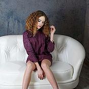 Одежда handmade. Livemaster - original item Felted mini dress with long sleeves