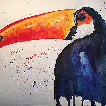Картины и панно ручной работы. Ярмарка Мастеров - ручная работа Картины: Тукан. Handmade.