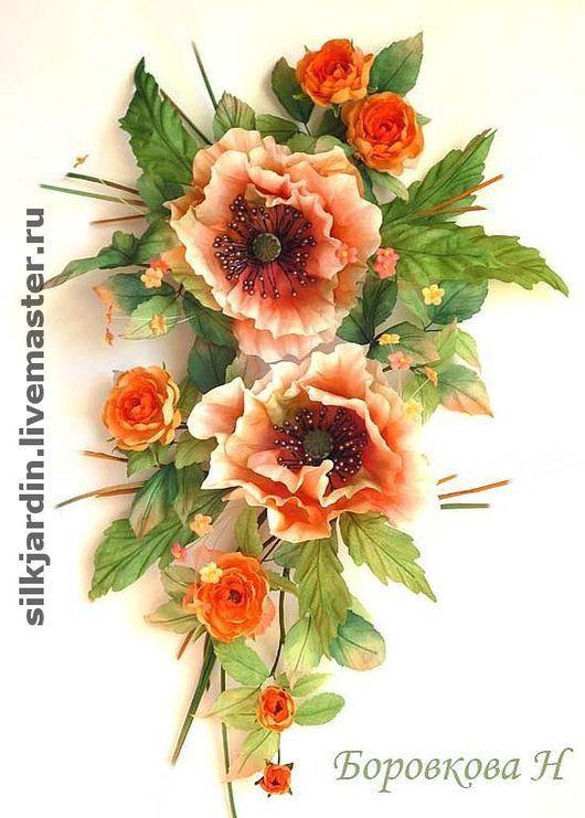 """Текстиль, ковры ручной работы. Ярмарка Мастеров - ручная работа. Купить Цветы из ткани украшение для штор """"Смак"""". Handmade."""