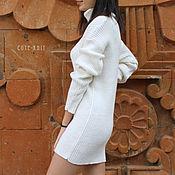 Одежда handmade. Livemaster - original item Dress white knitted. Handmade.
