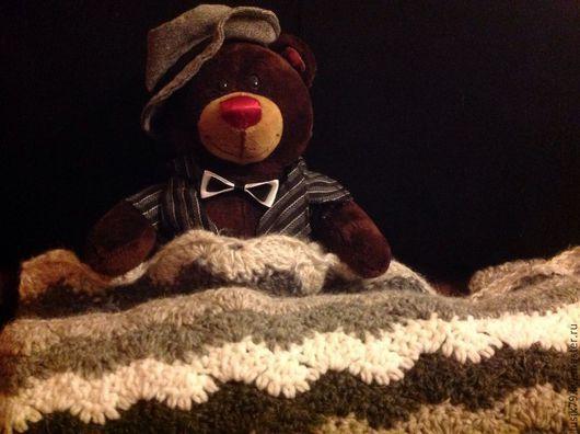 Текстиль, ковры ручной работы. Ярмарка Мастеров - ручная работа. Купить Плед вязанный Согрей меня своим теплом. Handmade.