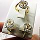 Комплекты украшений ручной работы. Комплект Золотое бриллиантовое кольцо серьги 585 пробы №2. GOLDJEWELRY-BK. Ярмарка Мастеров.