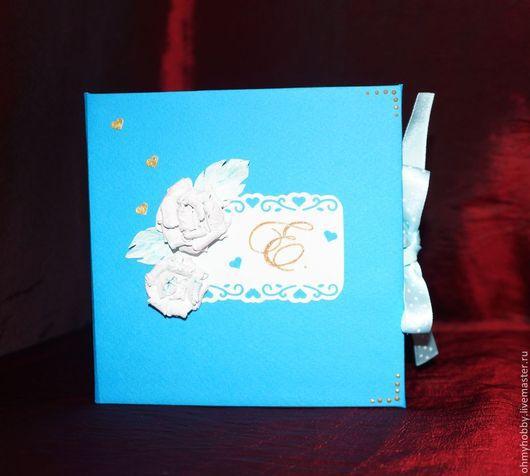 Подарки для новорожденных, ручной работы. Ярмарка Мастеров - ручная работа. Купить коробочка для СDдиска. Handmade. Тёмно-бирюзовый, подарок малышу