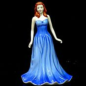 handmade. Livemaster - original item Miss Sapphire Statuette. England / Royal Doulton. Handmade.