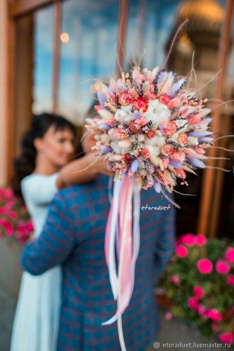 Свадебные букеты из сухоцветов, Свадебные букеты, Санкт-Петербург,  Фото №1