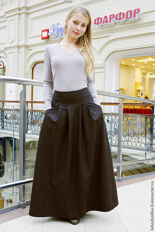Юбки ручной работы. Ярмарка Мастеров - ручная работа. Купить Теплая юбка Леди Совершенство. Handmade. Коричневый, весенняя юбка