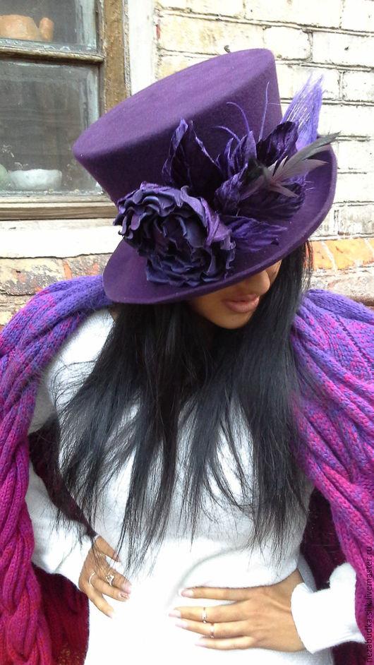 Шляпы ручной работы. Ярмарка Мастеров - ручная работа. Купить В городе Сочи-темные ночи. Handmade. Тёмно-фиолетовый