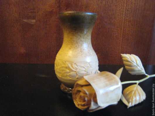 Вазы ручной работы. Ярмарка Мастеров - ручная работа. Купить Ваза с розой. Handmade. Ваза с розой, подарок женщинам