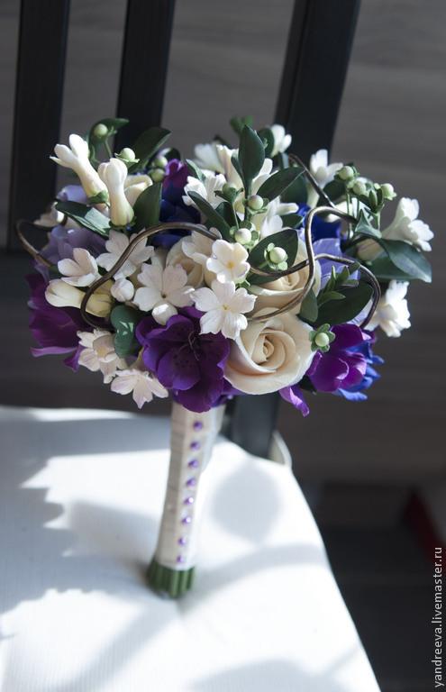 """Свадебные цветы ручной работы. Ярмарка Мастеров - ручная работа. Купить Букет невесты """"Магия цвета"""". Handmade. свадебные аксессуары"""