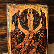 Картины и панно handmade. Livemaster - original item The wooden icon of the Transfiguration of the Lord. Handmade.