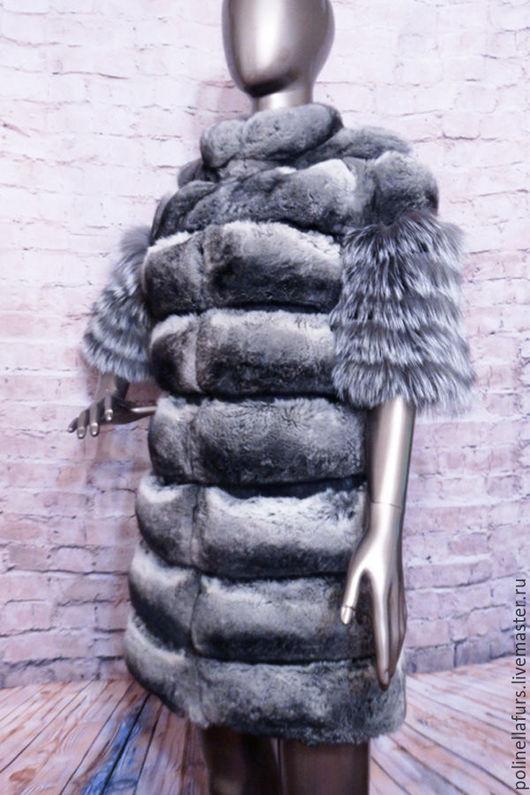 Верхняя одежда ручной работы. Ярмарка Мастеров - ручная работа. Купить Жакет из шиншиллы и чернобурой лисы. Handmade. Купить шубу