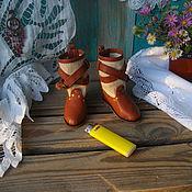 Куклы и игрушки ручной работы. Ярмарка Мастеров - ручная работа Сапожки в стиле бохо.. Handmade.