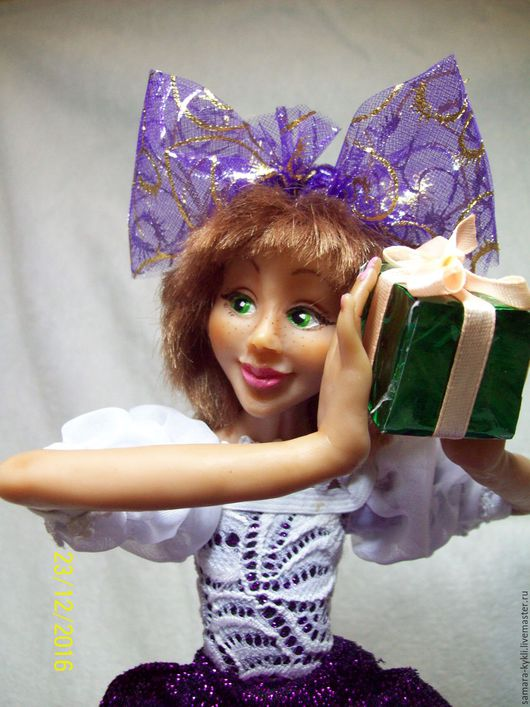 Коллекционные куклы ручной работы. Ярмарка Мастеров - ручная работа. Купить интерьерная кукла. Handmade. Бирюзовый, кукла интерьерная