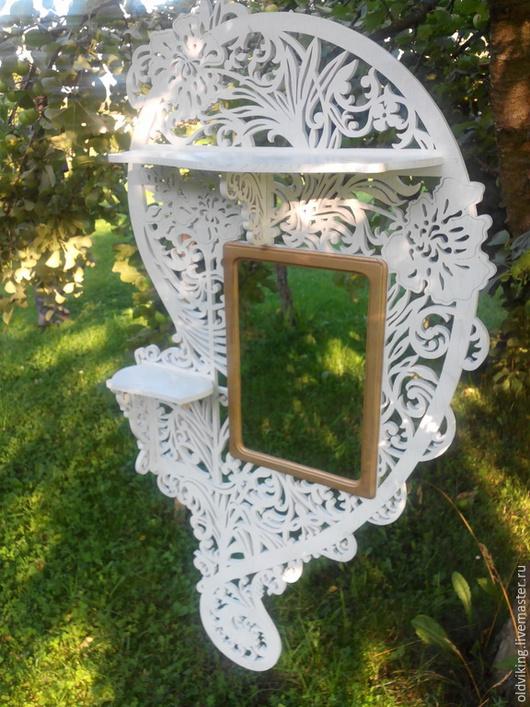 Зеркала ручной работы. Ярмарка Мастеров - ручная работа. Купить Рама для зеркала К001. Handmade. Белый, натуральное дерево, в прихожую