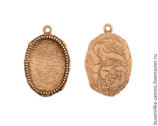 Для украшений ручной работы. Ярмарка Мастеров - ручная работа. Купить Оправа Винтаж 18х25мм, ND античное золото (1шт). Handmade.
