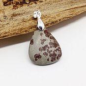 Украшения handmade. Livemaster - original item The pendant is made of siltstone grey-maroon matte. Handmade.