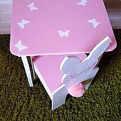 """Столы ручной работы. Ярмарка Мастеров - ручная работа Детская мебель из дерева.  Стул """"Зайчик"""" и стол.. Handmade."""
