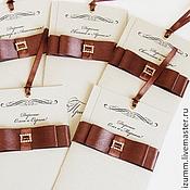 """Свадебный салон ручной работы. Ярмарка Мастеров - ручная работа Приглашение на свадьбу """"Горький шоколад"""". Handmade."""