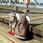 Куклы и игрушки ручной работы. Ярмарка Мастеров - ручная работа Гуси в стиле Тильда. Handmade.