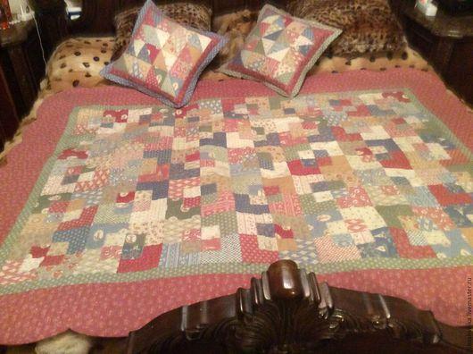 Текстиль, ковры ручной работы. Ярмарка Мастеров - ручная работа. Купить Покрывало из ткани Gutermann. Handmade. Комбинированный, лоскутное покрывало