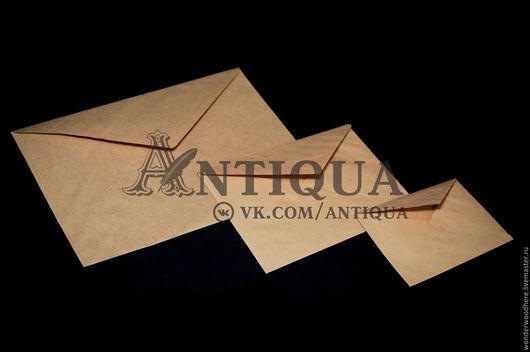 Упаковка ручной работы. Ярмарка Мастеров - ручная работа. Купить Крафт-конверты треугольный клапан, проклейка декстрин. Handmade.