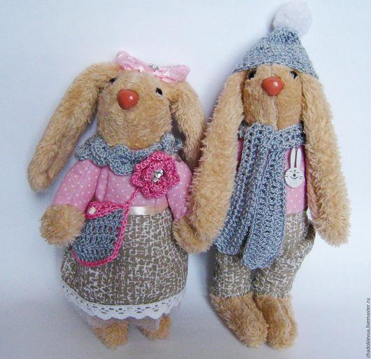 """Куклы Тильды ручной работы. Ярмарка Мастеров - ручная работа. Купить Зайцы тильда """"Нежность"""". Handmade. Заяц игрушка"""