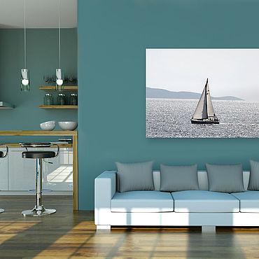 Картины и панно ручной работы. Ярмарка Мастеров - ручная работа Картина на холсте Яхта. Handmade.
