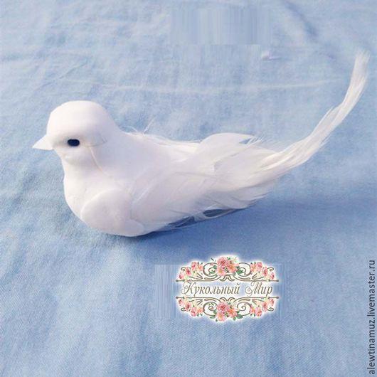 Куклы и игрушки ручной работы. Ярмарка Мастеров - ручная работа. Купить Птичка.. Handmade. Белый, птичка, голубь, пенопласт, перья