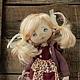 Коллекционные куклы ручной работы. Заказать Ася. Ирина Хочина 'Понарошку'. Ярмарка Мастеров. Кукла ручной работы, девочка с мишкой