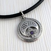 Украшения handmade. Livemaster - original item Lunula lunnitsa crescent woman pendant with amethyst. Handmade.