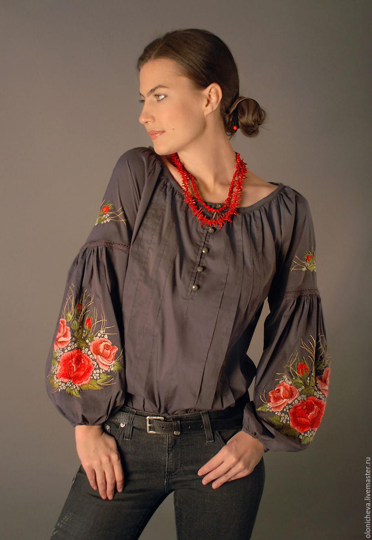 Вышитые блузки