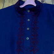 Русский стиль ручной работы. Ярмарка Мастеров - ручная работа Рубаха мужская из льна с вышивкой. Handmade.