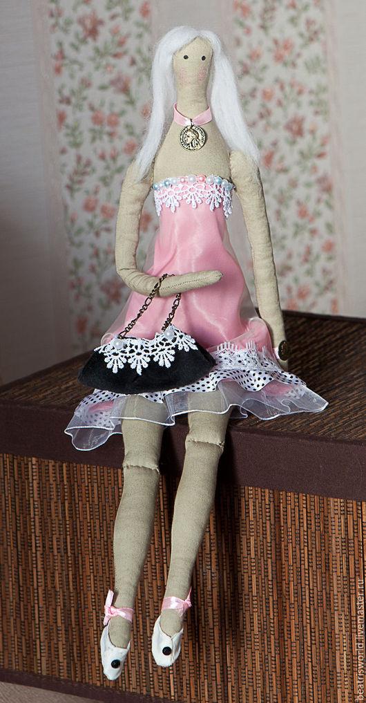 """Куклы Тильды ручной работы. Ярмарка Мастеров - ручная работа. Купить Тильда """"Воздушная прелесть"""". Handmade. Бледно-розовый, шёлк"""