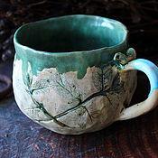 Зеленая керамическая кружка / Кружка цвета хаки
