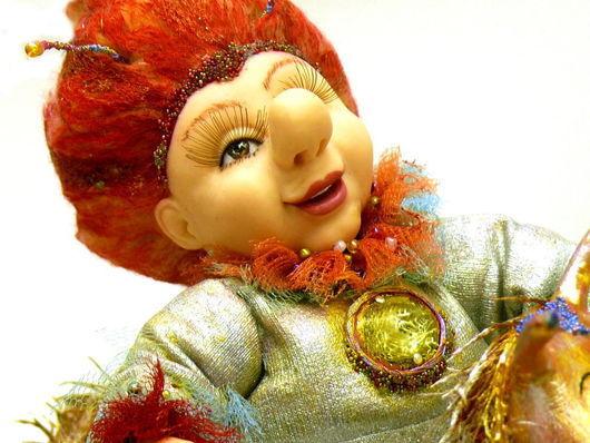 Коллекционные куклы ручной работы. Ярмарка Мастеров - ручная работа. Купить Кукла Авторская Король Негрустин Едет за Улыбками (композиция). Handmade.