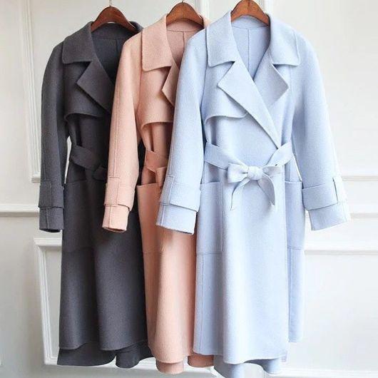 Верхняя одежда ручной работы. Ярмарка Мастеров - ручная работа. Купить Кашемировое пальто. Handmade. Пальто пальтошерсть, шерсть меринос