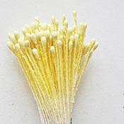 Материалы для творчества handmade. Livemaster - original item Stamen color-lemon, medium. Handmade.