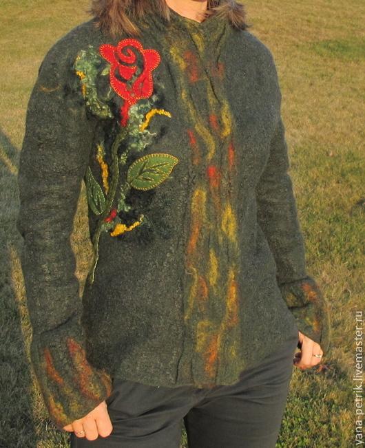 Пиджаки, жакеты ручной работы. Ярмарка Мастеров - ручная работа. Купить Жакет ручной работы валяный Ysaline. Handmade.