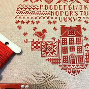 """Картины и панно ручной работы. Ярмарка Мастеров - ручная работа вышивка. Семплер """" Мой Дом"""". Handmade."""