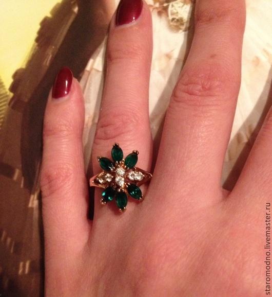 """Винтажные украшения. Ярмарка Мастеров - ручная работа. Купить Винтажное кольцо """"Цветок"""". Handmade. Винтажные украшения, коктейльное кольцо"""