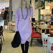 Одежда ручной работы. Ярмарка Мастеров - ручная работа Платье oversize на подкладке EGGDRESS WOOL PINK ROSE. Handmade.