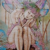 """Картины и панно ручной работы. Ярмарка Мастеров - ручная работа Картина """"Цветочная фея"""". Handmade."""