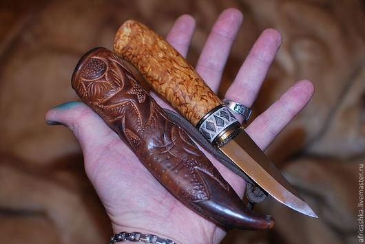 Подарки для мужчин, ручной работы. Ярмарка Мастеров - ручная работа. Купить нож ручной работы. Handmade. Серебряный, единственный экземпляр