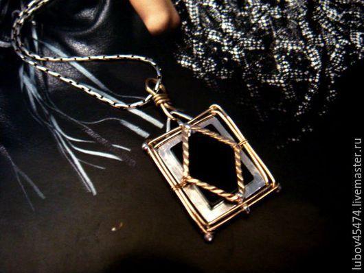 """Кулоны, подвески ручной работы. Ярмарка Мастеров - ручная работа. Купить Кулон """"Парис"""" оникс,серебро 925,gold filled. Handmade."""
