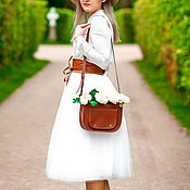 Одежда ручной работы. Ярмарка Мастеров - ручная работа Белая юбка из Фатина. Handmade.